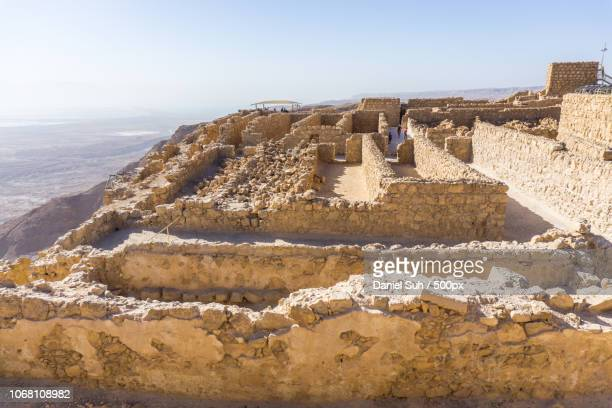 old ruin, garden of gethsemane, galillee, israel - jericho stock photos and pictures