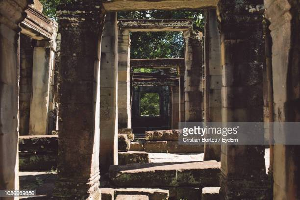 old ruin of temple - bortes stock pictures, royalty-free photos & images