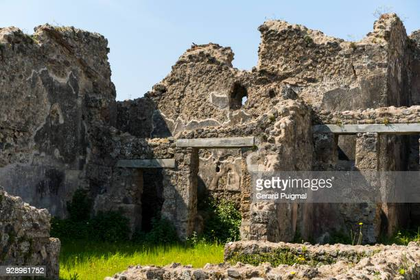 Old ruined houses in the Roman city of Pompeii (Pompei, Campania, italy)
