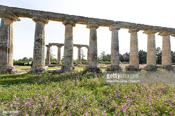 Old Ruins At Palatine Tables Against Sky