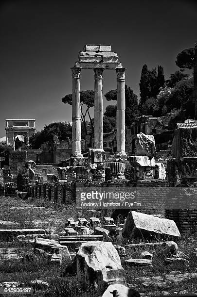 Old Ruins At Roman Forum