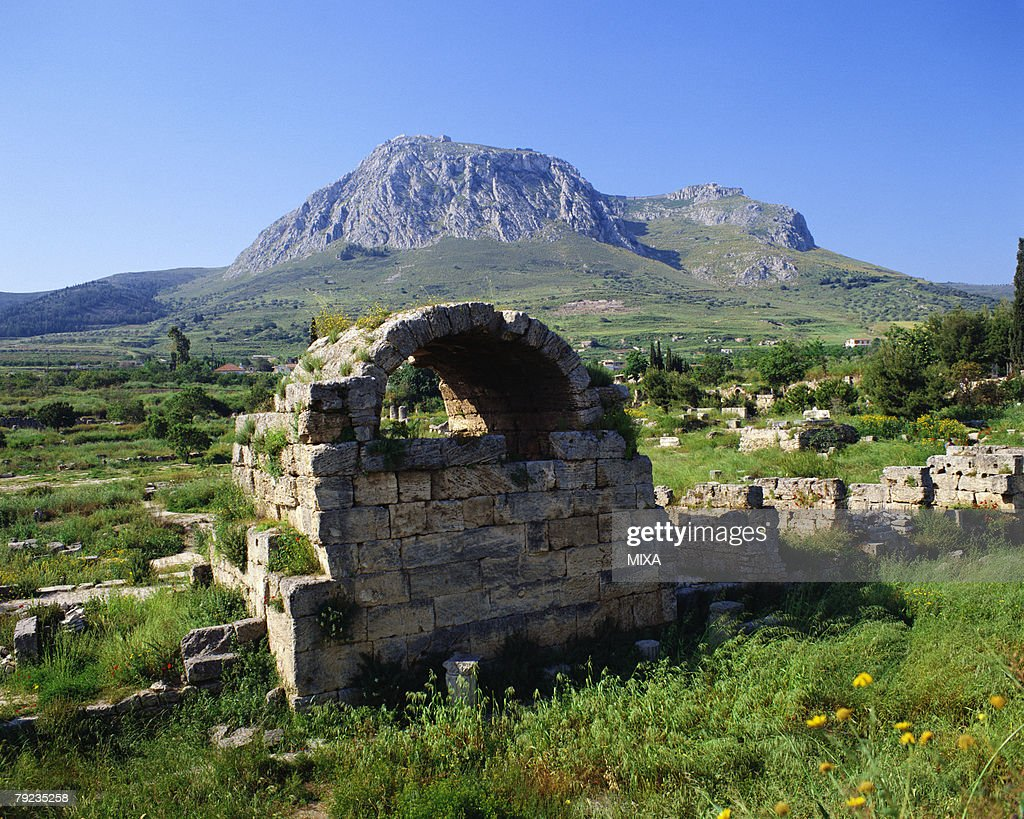 Old ruins in Corinth, Greece : Stock Photo
