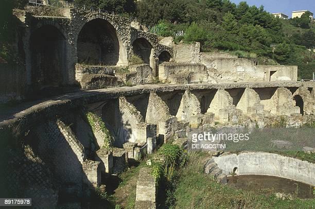 Old ruins of a building Baia Campania Italy