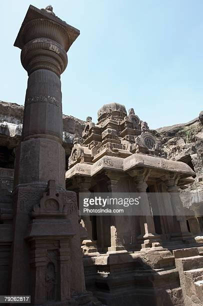 """Old ruins of a building, Ellora, Aurangabad, Maharashtra, India"""