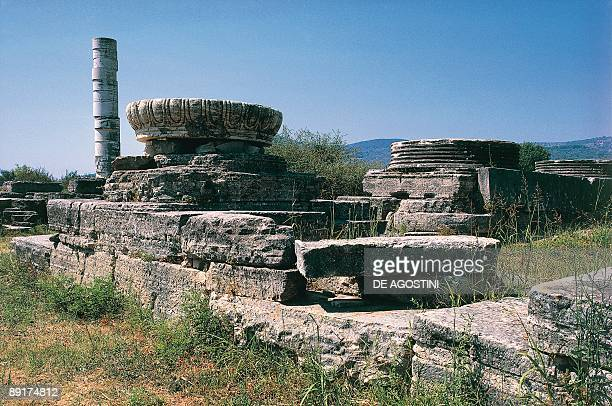 Old ruins of a built structure Samos Greece