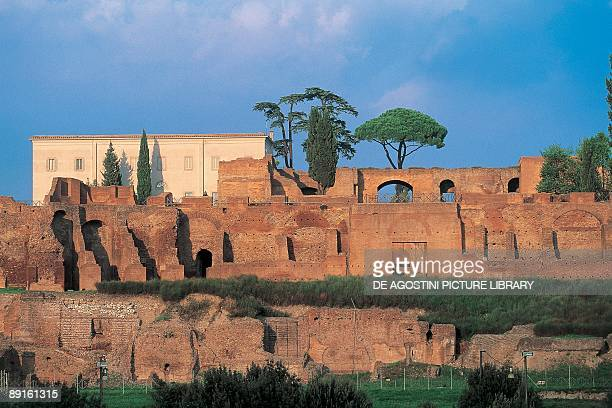Old ruins of a castle Palatine Hill Rome Lazio Italy