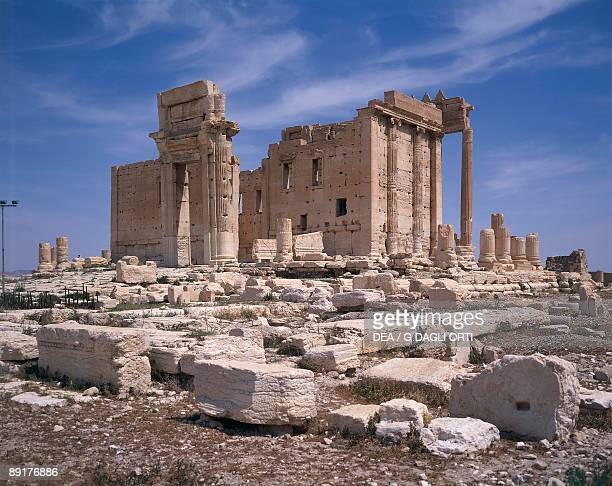 Old ruins of a temple, Temple Of Baal Shamen, Palmyra, Syria