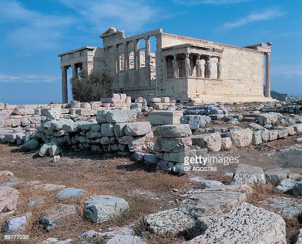 Old ruins of a temple The Erechtheum Acropolis Attica Athens Greece