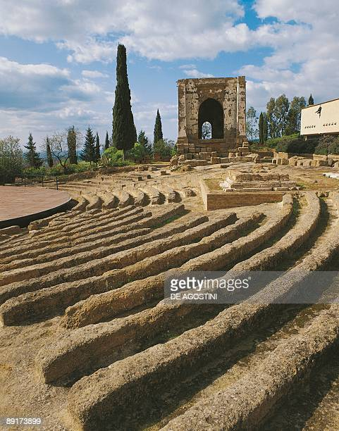 Old ruins of a temple Valley Of The Temples Ekklesiasterion Agrigento Sicily Italy