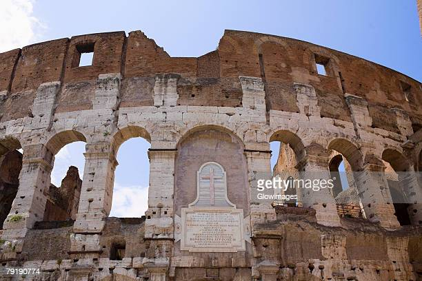 Old ruins of an amphitheater, Coliseum, Rome, Italy