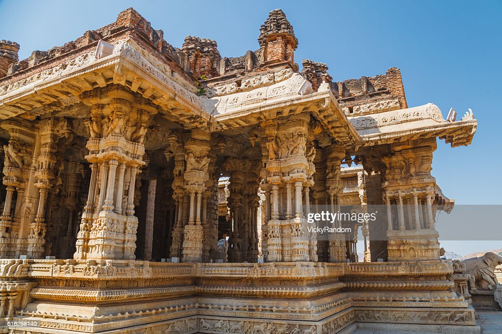 Old ruins of Hampi, Karnataka, India : Stock Photo