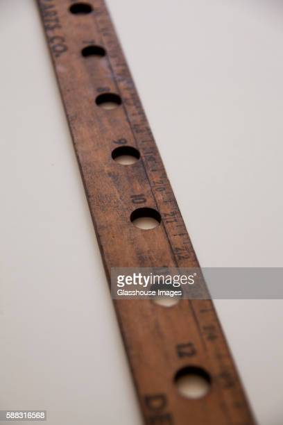 Old Ruler with Holes