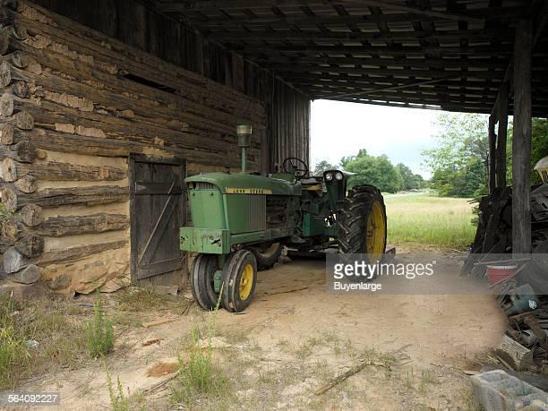 Old rural county farm tractor North Carolina