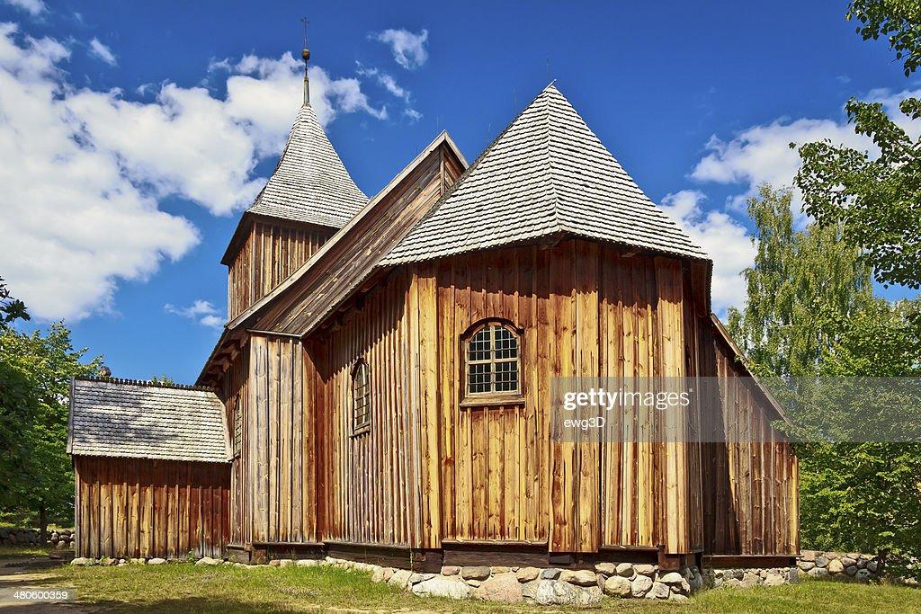 Old Rustic Church, Kaszuby, Poland : Stock Photo