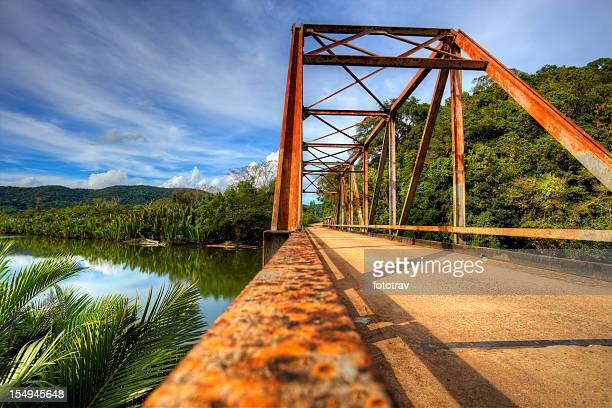 Old rusty bridge in countryside