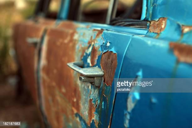 old rusty car door