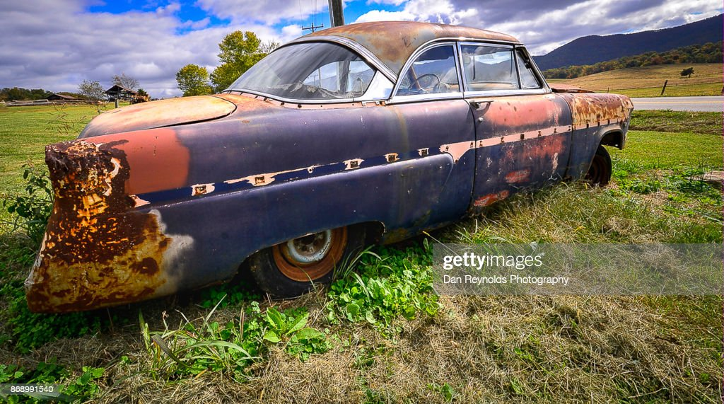 Old Rusty Car Sunny Day Stock Photo | Getty Images