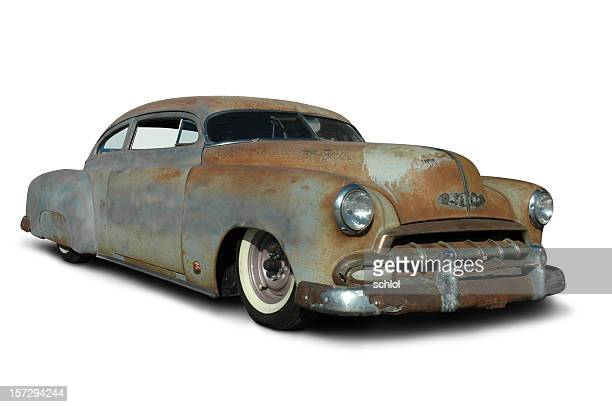 old rusty low rider - hot rod car stock photos and pictures