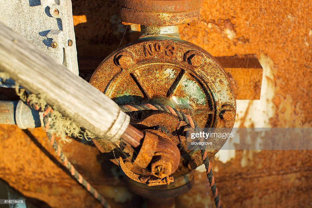Old rusty pump : Stock Photo