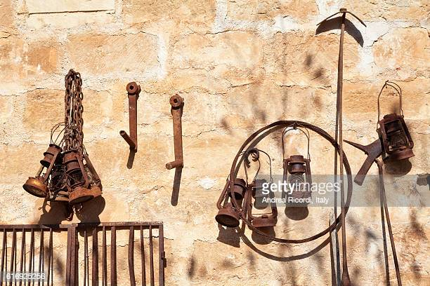 Old rusty tools