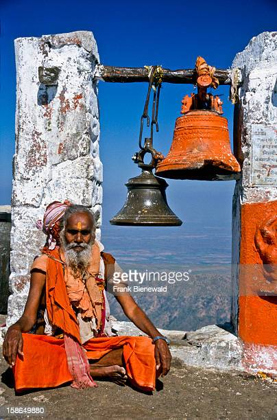 Old sadhu taking care of one of the temples on Girnar Hill