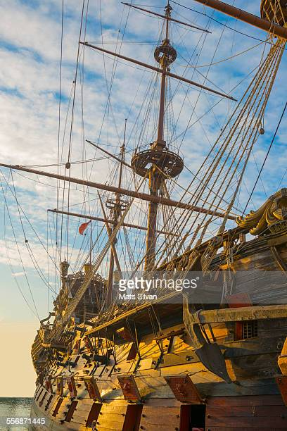 old sailing ship - pirate ship stock photos and pictures