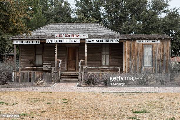 Old saloon in which the famous Texas hanging judge Roy Bean dispensed law west of the Pecos along the Rio Grande in a desolate stretch of the...
