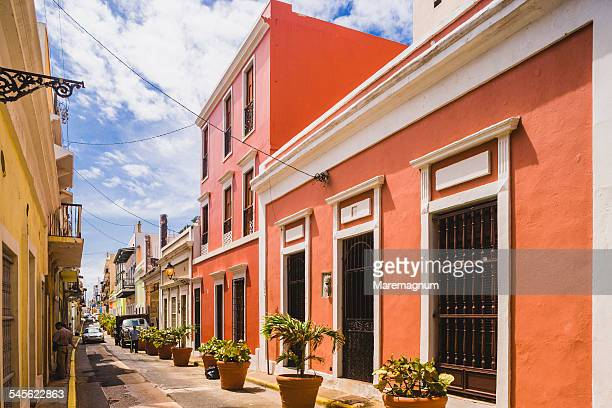 old san juan, a street - old san juan stock pictures, royalty-free photos & images