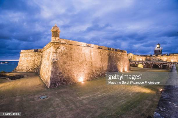 old san juan, el morro, castillo san felipe del morro - old san juan stock pictures, royalty-free photos & images