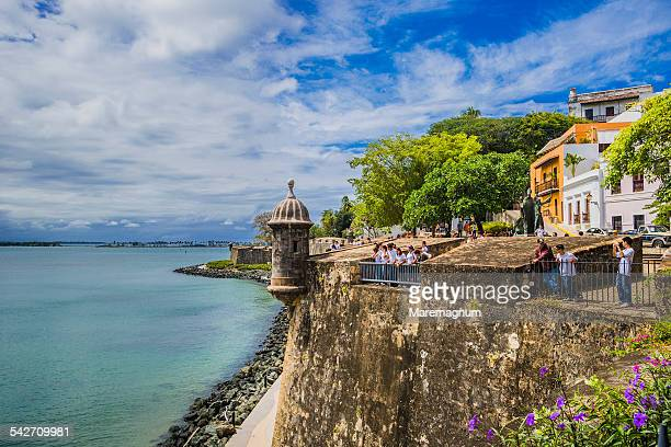 old san juan, the city walls - puerto rico stock pictures, royalty-free photos & images