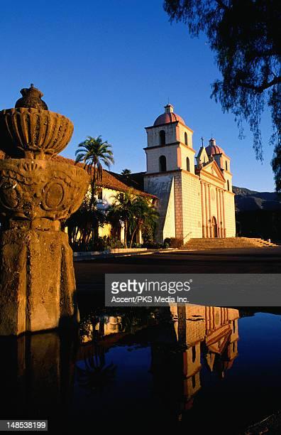 old santa barbara mission. - mission santa barbara stock pictures, royalty-free photos & images