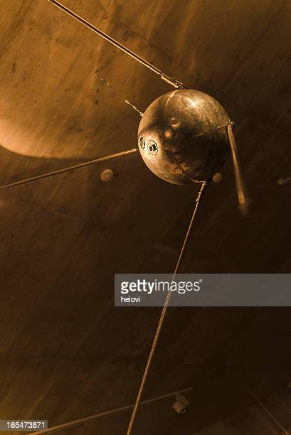 old satellite - sputnik stock pictures, royalty-free photos & images