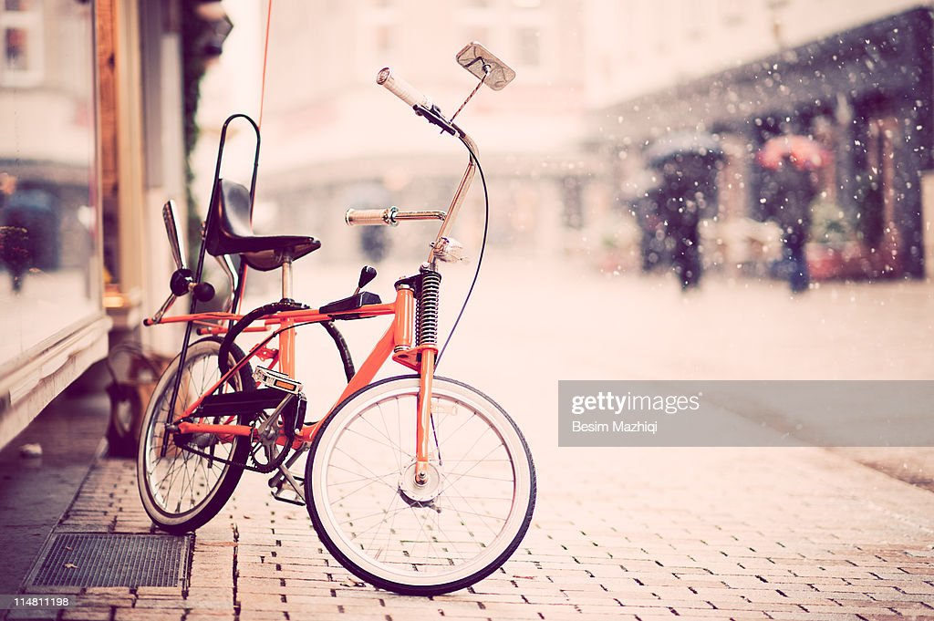 Old school bike : Stock Photo