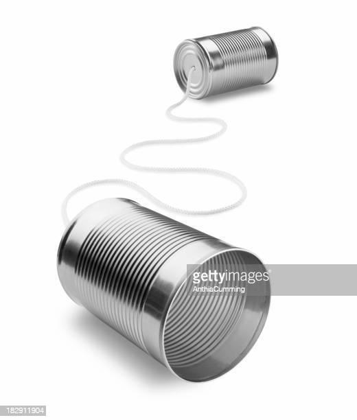 糸電話分離白背景