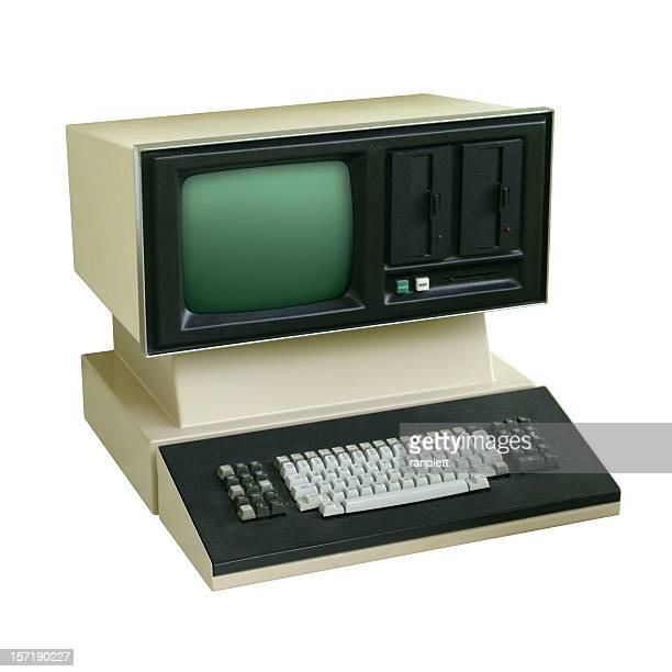 old school-computer - history stock-fotos und bilder
