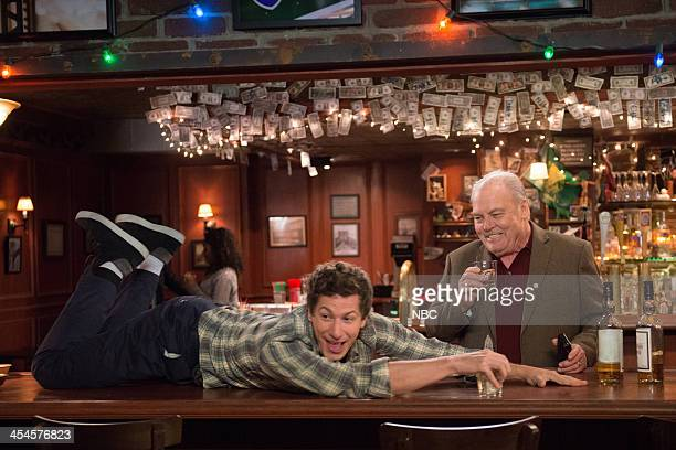 NINE Old School Episode 109 Pictured Andy Samberg as Jake Peralta Stacy Keach as Jimmy Brogan