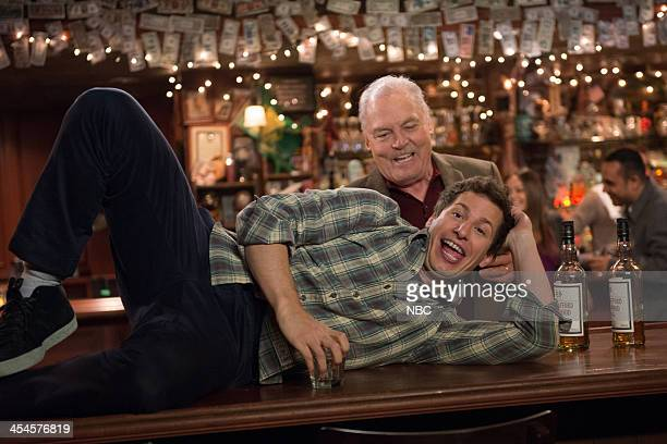 NINE Old School Episode 109 Pictured Stacy Keach as Jimmy Brogan Andy Samberg as Jake Peralta