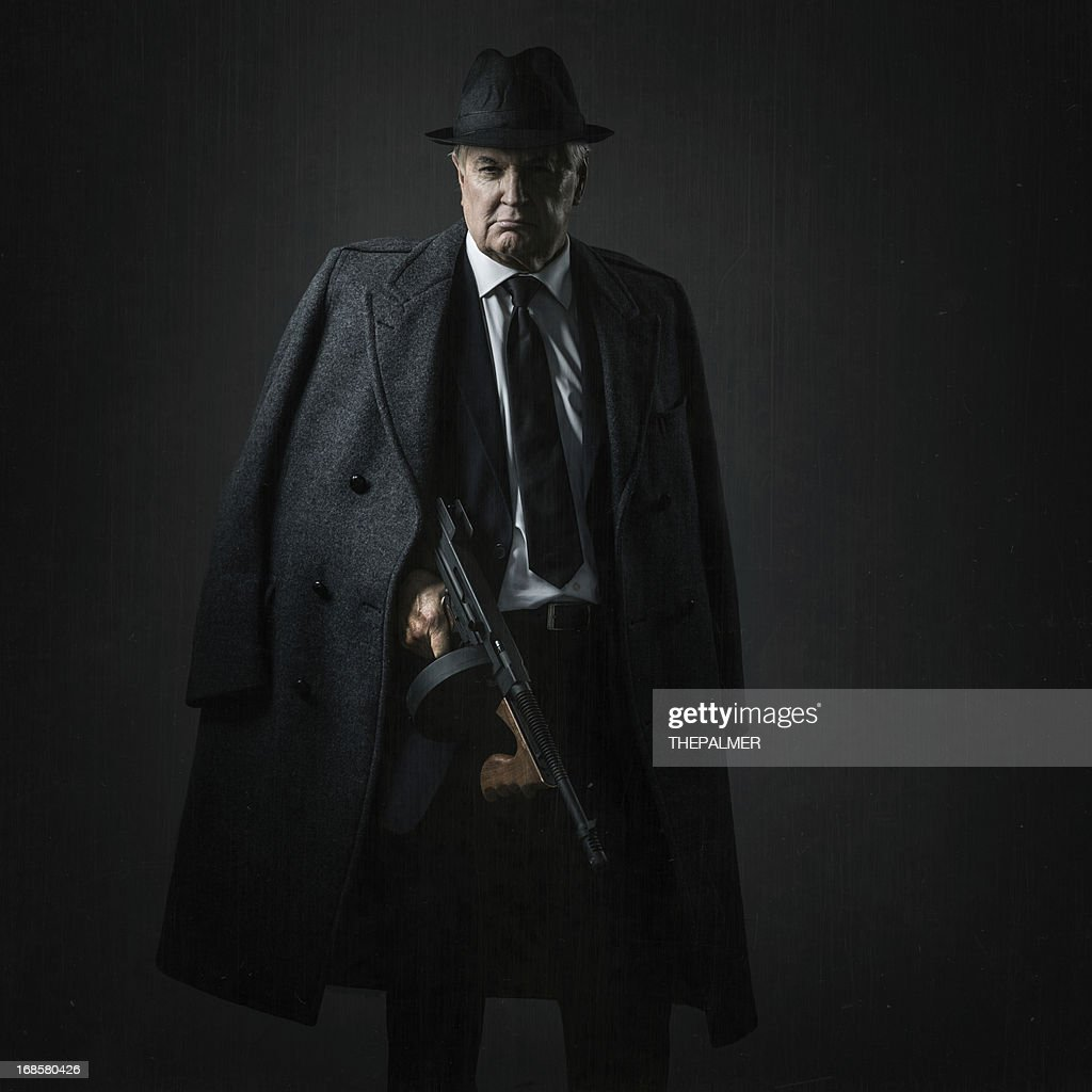 old school mobster : Stock Photo