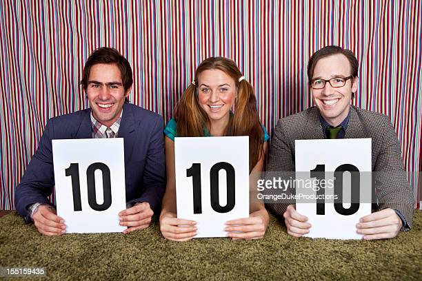 old school panel of judges - scoring stock pictures, royalty-free photos & images