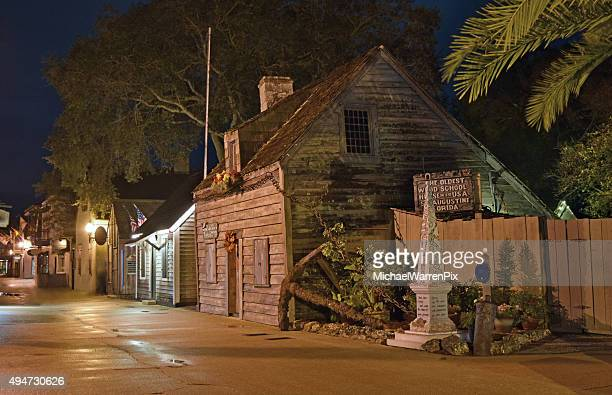 old schoolhouse in st. augustine, florida - st. augustine florida stock photos and pictures