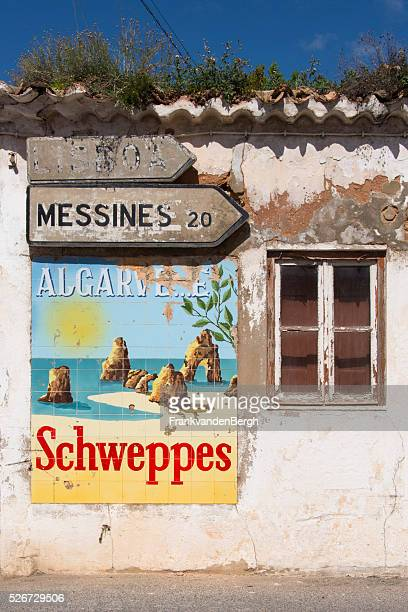 Old schweppes advertisement in Portugal