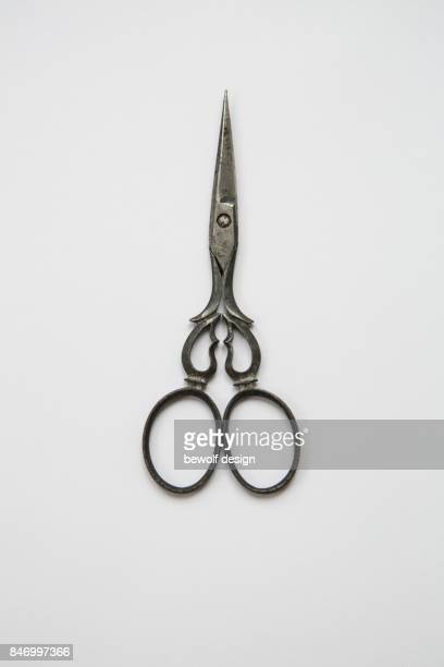 Old scissors made of metal
