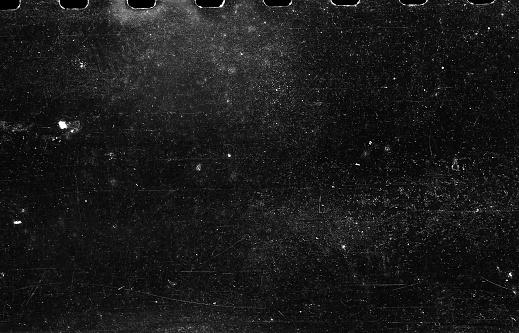Old Scratched Film Strip Grunge Texture Background 1067089520