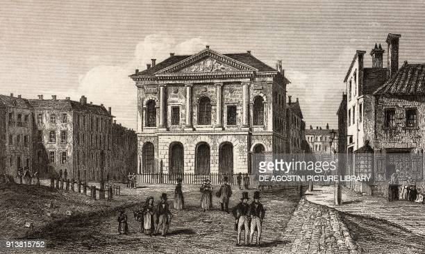 Old Sessions House London England United Kingdom engraving by Lemaitre from Angleterre Ecosse et Irlande Volume IV by Leon Galibert and Clement Pelle...