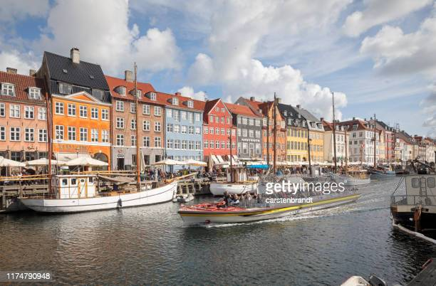 old ships in new harbor - nyhavn stock pictures, royalty-free photos & images
