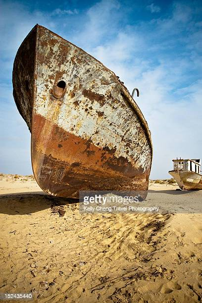 Old ships of Aral Sea