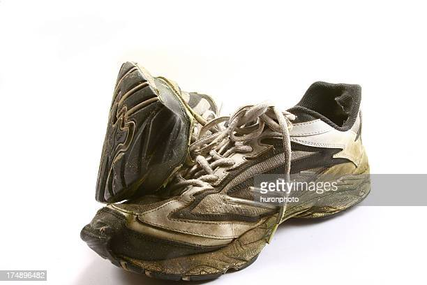 old shoes - stain test stock pictures, royalty-free photos & images