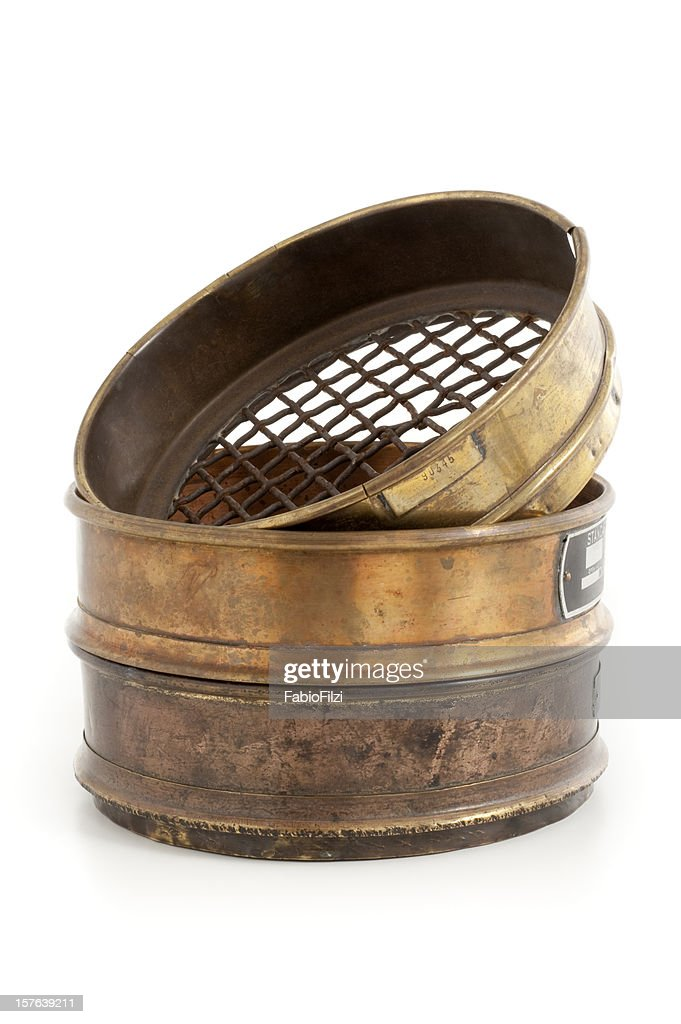 old sieve for gold mining : Stock Photo