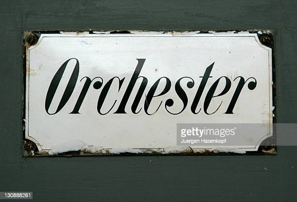 Old sign orchestra, Bayreuth, Bavaria, Germany