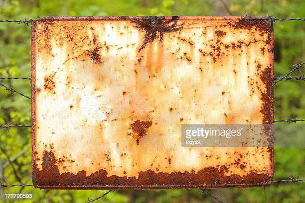 old sign - rusty stock pictures, royalty-free photos & images